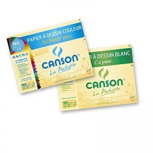 Canson Lot de 2 Papier à dessin 24 x 32 cm Vives de la marque Canson image 0 produit