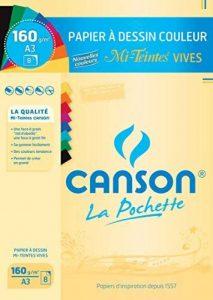 Canson Mi-Teintes Papier à dessin A3 29,7 x 42 cm 8 feuilles Vives de la marque Canson image 0 produit