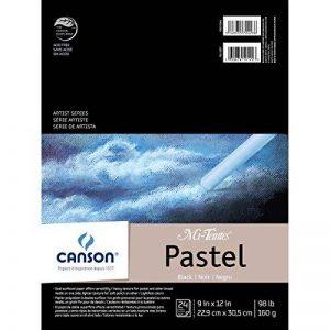 """Canson Mi-Teintes Pastels Paper Pad 9""""X12""""-Black 24 Sheets de la marque Canson image 0 produit"""