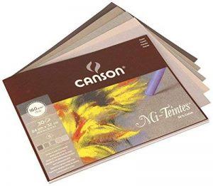 Canson MiTeintes Papier à dessin 160g/m² Grain nid d'abeille 24 x 32 cm 5 Nuances de Gris de la marque Canson image 0 produit