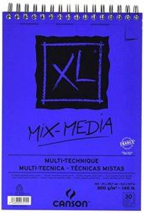 CansonMix Media Bloc de papier à dessin Taille XL, 300g/m², 30feuilles 21 x 30.9 cm weiß de la marque Canson image 0 produit