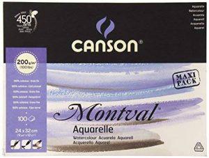 Canson Montval 807353Bloc papier aquarelle de la marque Canson image 0 produit