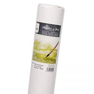 Canson Moulin du Roy Rouleau Papier aquarelle Grain Fin 1,30 x 9,15 m Blanc Naturel de la marque Canson image 0 produit