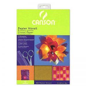 CANSON papier 200992700cristal 21x 29,7cm A4Rouge/jaune/bleu/violet/vert foncé, 40g/m² de la marque Canson image 0 produit
