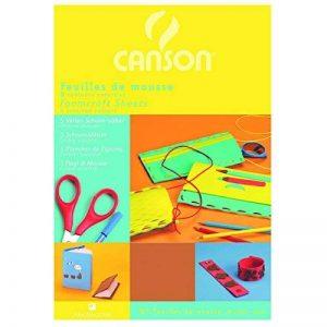 Canson Papier mousse Papier de bricolage 5 feuilles 20 x 29 cm Assorties de la marque Canson image 0 produit