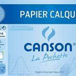 Canson Pochette Papier calque satiné 12 feuilles 70 g A4 Translucide de la marque Canson image 1 produit