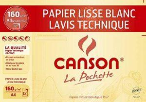 Canson Technique Papier à dessin A4 21 x 29,7 cm 12 feuilles Blanc de la marque Canson image 0 produit