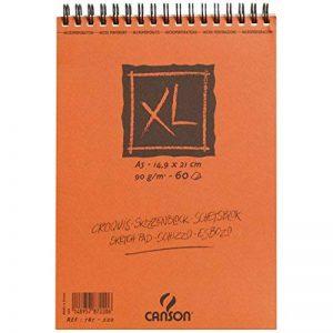 Canson XL Croquis 200787220 Papier à dessin 60 feuilles A5 14,8 x 21 cm 90 g Ivoire de la marque Canson image 0 produit
