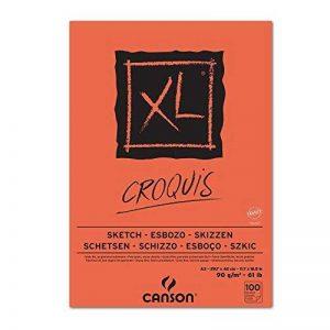 Canson XL Croquis Papier à dessin 100 feuilles A3 29,7 x 42 cm 90 g Ivoire de la marque Canson image 0 produit