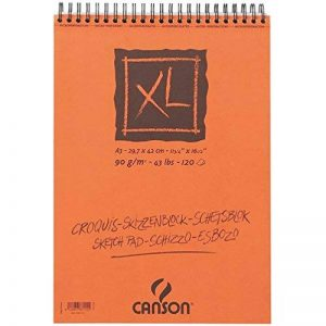 Canson XL Croquis Papier à dessin 120 feuilles A3 29,7 x 42 cm 90 g Ivoire de la marque Canson image 0 produit