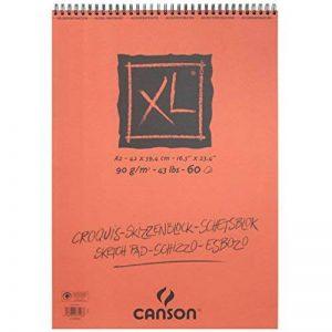 Canson XL Croquis Papier à dessin 60 feuilles A2 42 x 59,4 cm 90 g Ivoire de la marque Canson image 0 produit