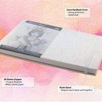 Carnet de croquis – Couverture Rigide et Reliure en Lin – 80 pages – Bloc Dessin A4 Format Paysage – 80 feuilles de Papier 110 g/m2 – MozArt Supplies de la marque MozArt Supplies image 2 produit