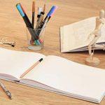 Carnet de croquis – Couverture Rigide et Reliure en Lin – 80 pages – Bloc Dessin A4 Format Paysage – 80 feuilles de Papier 110 g/m2 – MozArt Supplies de la marque MozArt Supplies image 1 produit