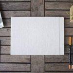Carnet de croquis – Couverture Rigide et Reliure en Lin – 80 pages – Bloc Dessin A4 Format Paysage – 80 feuilles de Papier 110 g/m2 – MozArt Supplies de la marque MozArt Supplies image 3 produit