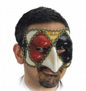 CARNIVAL TOYS Carnaval jouets–Masque Vénitienne Homme en Papier mâché Noir Rouge de la marque CARNIVAL TOYS image 0 produit