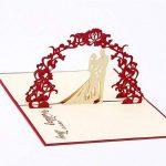 Carte 3D Amour Papier Spiritz Carte Pop up Mariage Carte 3D Love Wedding Anniversary Paper Carte Anniversaire de Carte du Nouvel an Chinois Cartes Femme de la marque Paper Spiritz image 4 produit