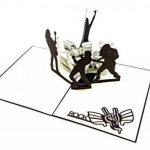 Carte 3d pliable, handgearbeitete Message cadeau, carte, carte, Rock And Roll, emballage pour de tickets, comprenant couverture et film de protection de la marque Gipfelstürmer image 2 produit