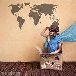 Carte du monde décor maison pochoir peinture murs, Fabrics & MEUBLE SUR MESURE Décoration Pochoir - semi transparent pochoir, XXL/ 53x100cm de la marque Ideal Stencils image 1 produit