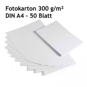 Carton photo, carton blanc, 50feuilles, DIN A4, Haute Qualité, de bricolage 300g/m² de la marque EAST-WEST Trading GmbH image 0 produit