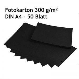 Carton photo, carton de bricolage noir, 50feuilles, DIN A4, haute qualité, 300g/m² de la marque EAST-WEST Trading GmbH image 0 produit