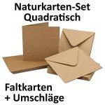 Cartons d'invitation en papier kraft - Vierges - Enveloppes incluses - Papier brun recyclé Lot de 50 marron de la marque Neuser image 1 produit