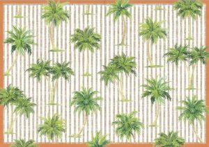Caspari Cartes vierges avec enveloppes Palmiers (Lot de 8) de la marque Caspari image 0 produit