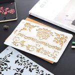 Ccmart Plastique Dessin Peinture Pochoir modèles Lot de 10avec motif de géométrie, fleurs, forme de Ange, forme de cœur Pecfect pour ordinateur portable/agenda/scrapbook/Journalisation)/carte DIY projets d'artisanat de la marque CCMART image 5 produit