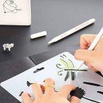 Ccmart Plastique Dessin Peinture Pochoir modèles Lot de 9avec papillons, fleurs, oiseaux, figurines, forme d'animaux, forme de cœur Pecfect pour ordinateur portable/agenda/scrapbook/Journalisation)/carte DIY Craft projet de la marque CCMART image 2 produit