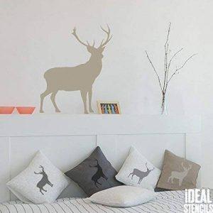 cerf Highland POCHOIR écossais Style Mural De Maison décor. Peinture Murs Tissu & meubles. Réutilisable Ideal Stencils Ltd - semi transparent pochoir, XXL/77x96cm de la marque Ideal Stencils image 0 produit