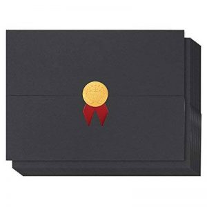 certificat Coque–12-pack Noir certificat Holders, pour Prix papiers, documents, diplômes et diplômes–pour format de papier A4, 24.99x 32centimetres de la marque image 0 produit