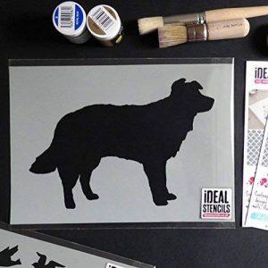 Chien Collie Mouton chien POCHOIR Peinture DÉCORE aux murs Tissu & Meubles RÉUTILISABLE Art Artisanat - semi transparent pochoir, S/17X26CM de la marque Ideal Stencils image 0 produit