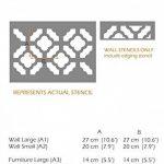 CHINOIS JARDIN Meubles Mur Sol Pochoir Pour Peinture - Meubles Petit de la marque Dizzy Duck Designs image 1 produit