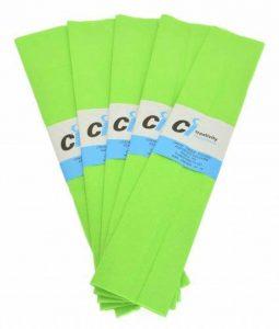 CI Tissue Lot de 10paquets de papier crépon Vert clair 50cm x 3m de la marque CI Tissue image 0 produit
