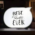 Cinéma Boîte Lumineuse LED Bulle de Texte d'Ecriture Lampe Décorative avec 7 crayons pour Décorer Anniversaire/Famille/Boutique de la marque HUABEI image 4 produit