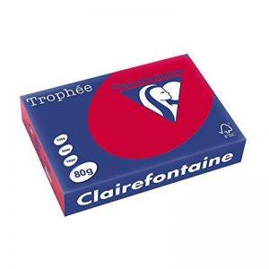 Clairefontaine 1782 Papier jet d'encre Rouge de la marque Exacompta image 0 produit