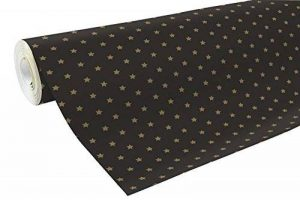Clairefontaine 201339C Rouleau papier cadeau Alliance 60g 50x0,70m Motif Etoiles or sur fond noir de la marque Clairefontaine image 0 produit
