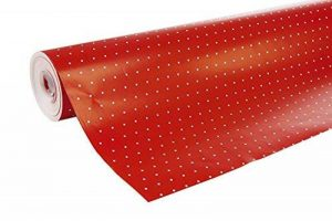 Clairefontaine 201402C Rouleau papier cadeau Alliance 60g 50x0,70m Motif Pois sur fond rouge de la marque Clairefontaine image 0 produit