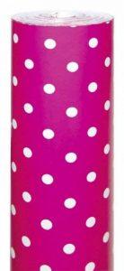 Clairefontaine 201412C Rouleau papier cadeai Alliance 60g 50x0,70m Motif Pois blanc fond rose de la marque Clairefontaine image 0 produit