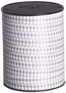 Clairefontaine 201522C Bolduc bobine lisse 250mx7mm Motif Vichy Couleur Taupe de la marque Clairefontaine image 0 produit