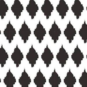 Clairefontaine 211200C Rouleau papier cadeau Alliance 60g,50x0,70m Motif Losanges noirs sur fond blanc de la marque Clairefontaine image 0 produit