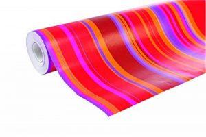 Clairefontaine 211202C Rouleau papier cadeau Alliance 60g 50x0,70m Motif Rayures rouge/orange/rose de la marque Clairefontaine image 0 produit
