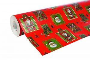 Clairefontaine 211302C Rouleau papier cadeau Alliance 60g 50x0,70m Motif Père Noël mosaïque sur fond rouge de la marque Clairefontaine image 0 produit
