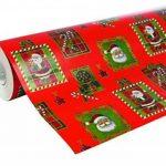 Clairefontaine 211302C Rouleau papier cadeau Alliance 60g 50x0,70m Motif Père Noël mosaïque sur fond rouge de la marque Clairefontaine image 1 produit