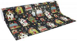 Clairefontaine 211748C Rouleau papier cadeau Excellia 80g 50x0,70m Motif Cabanes de noël de la marque Clairefontaine image 0 produit