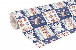 Clairefontaine 211757C Rouleau papier cadeau Alliance 60g 50x0,70m Motif Noël Patchwork de la marque Clairefontaine image 0 produit