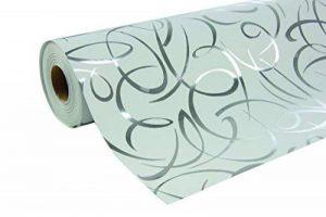 Clairefontaine 211893C Rouleau papier cadeau Premium 80g 50x0,70m Motif Arabesques argentées de la marque Clairefontaine image 0 produit