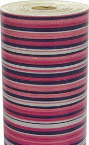 Clairefontaine 223612C Rouleau papier cadeau Kraft brun 60g 50x0,70m Motif Lignes bleu/violet/argent de la marque Clairefontaine image 0 produit