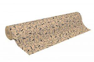 CLAIREFONTAINE 223805C Un rouleau de papier cadeau Kraft brut 50 m 70 70g Beaux arts de la marque Clairefontaine image 0 produit