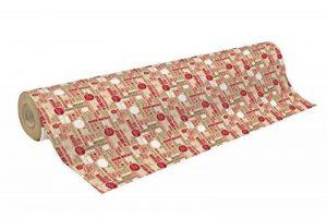 CLAIREFONTAINE 223811C Un rouleau de papier cadeau Kraft brut 50 m 70 70g Mots de Noël de la marque Clairefontaine image 0 produit