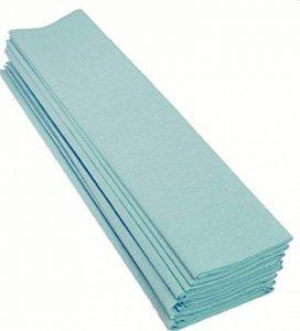 Clairefontaine 25070 Papier Crépon Maildor Densité Crêpage Soixante Quinze Pourcent 40g/m2 50cmx2.5m Turquoise Pochette Lot de 10 Bleu de la marque Clairefontaine image 0 produit